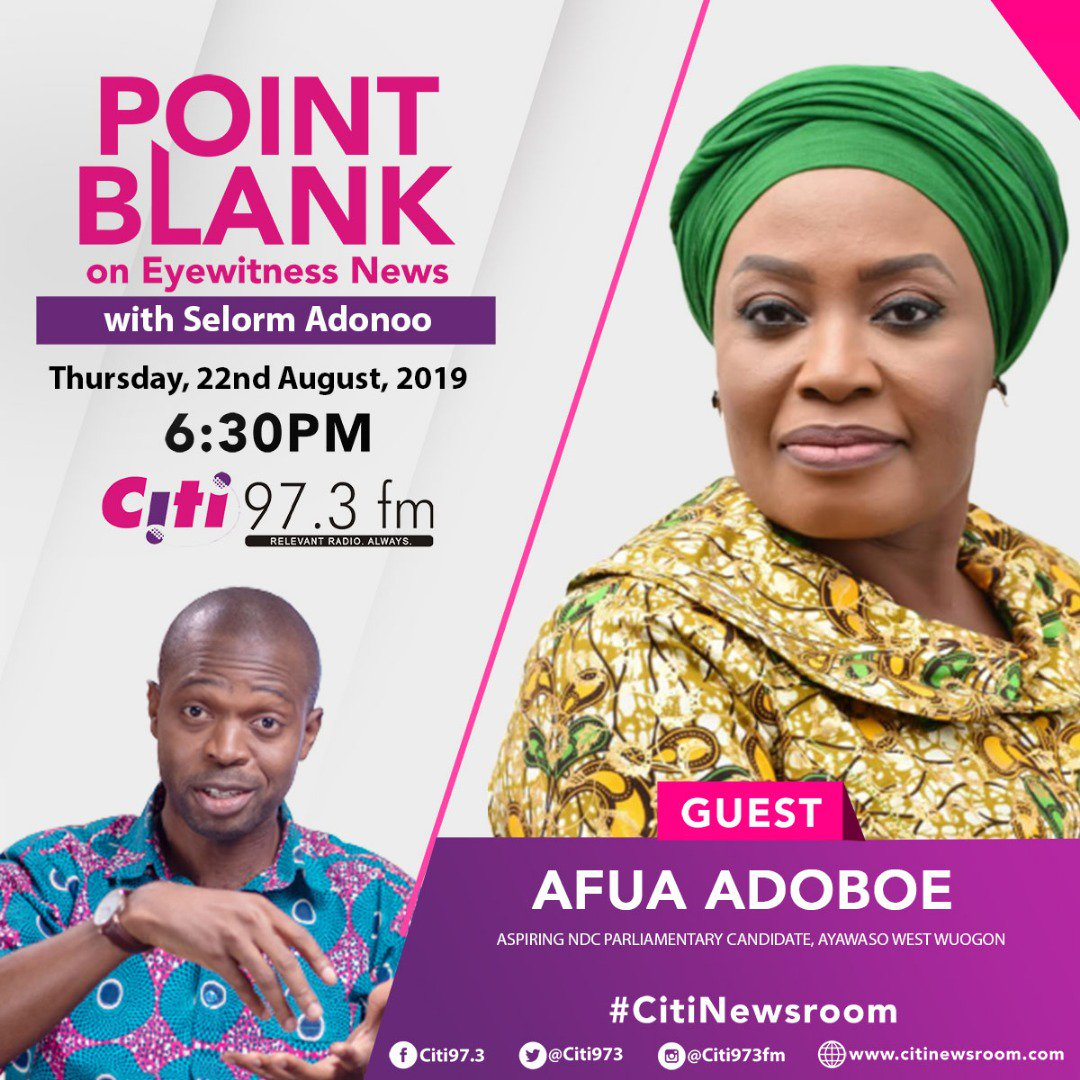 Meet @johndumelo1's contender for the NDC #AWW PC slot.... she's on #PointBlank on #EyewitnessNews tonight! Don't miss it.... promises to be exciting! #CitiNewsroom