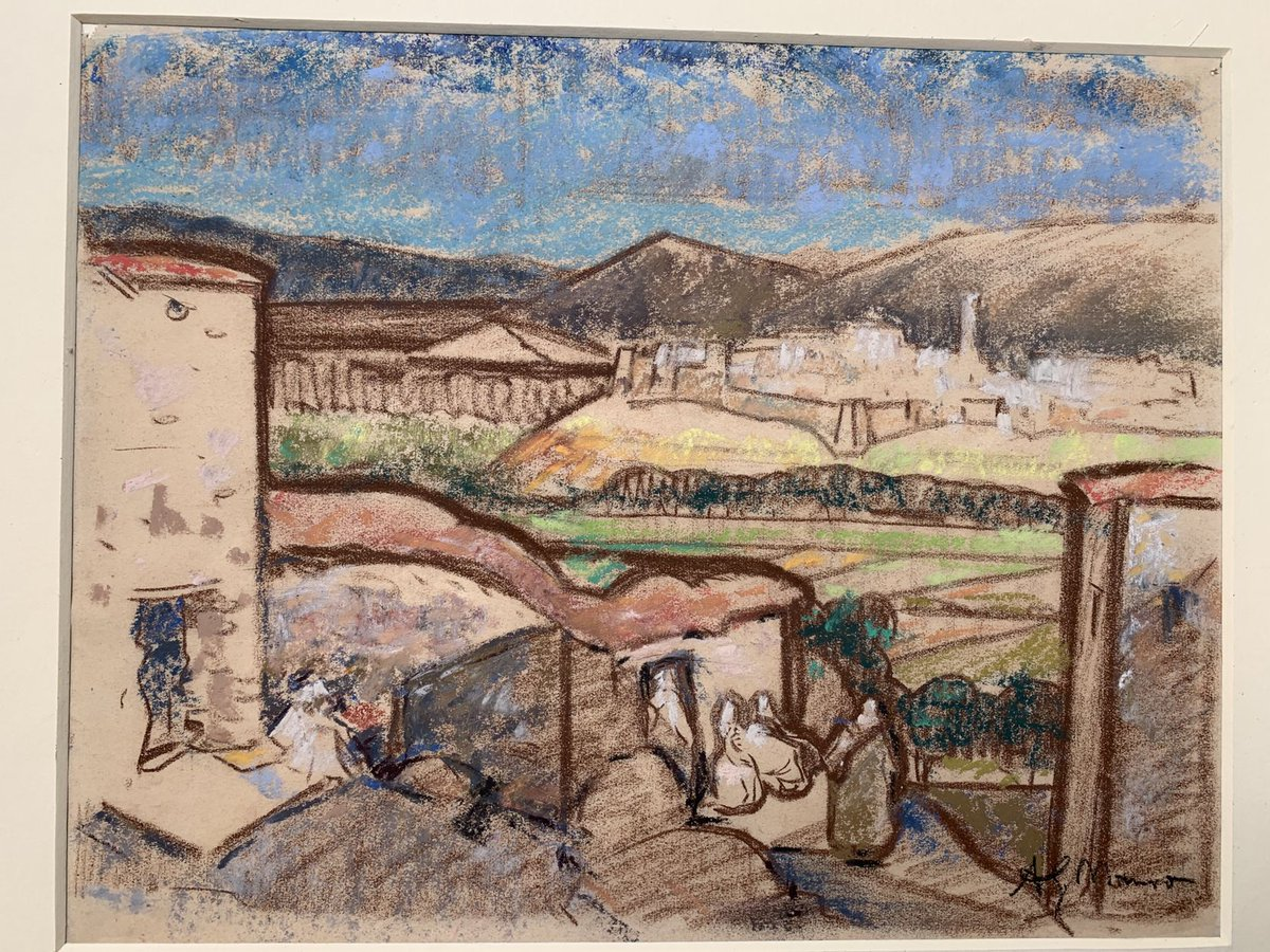 It is therefore an absolute joy to report that I have just purchased my 'second' Alexander Graham Munro. This beautiful little pastel drawing dating from the 1920s......executed in Tangiers Morocco Probably on the same trip as the painting I already own.