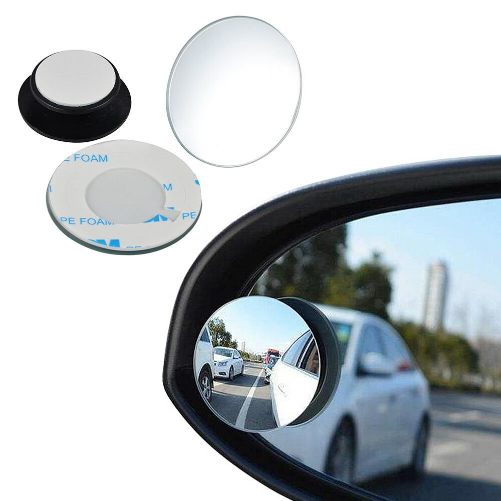 2x Universal Blind Spot Mirror Wide Angle Rear Side View For Vehicle Car Truck