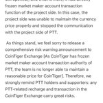 Image for the Tweet beginning: To all #PTT holders, this