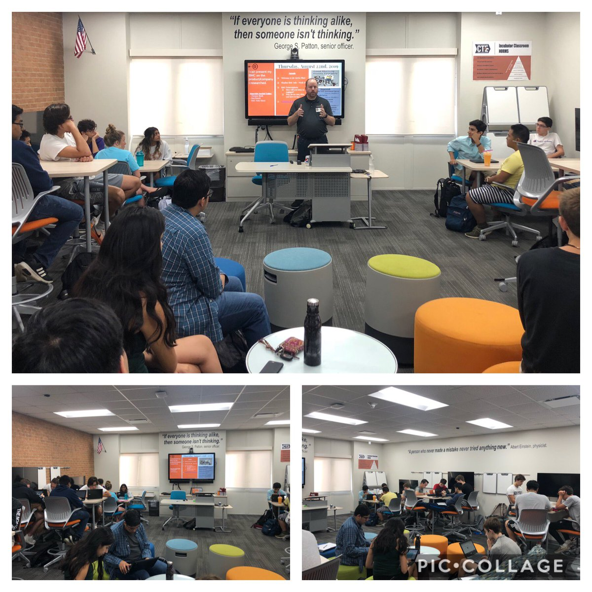 TY Kevin Piket, valued member of our D203 INCubator team, for speaking to ⁦@nnhscte⁩ ⁦@incubatoredu⁩ class this morning. Ss diving into their first BMC model. #empower203 #leanstartup <br>http://pic.twitter.com/AfoVKJsDHX