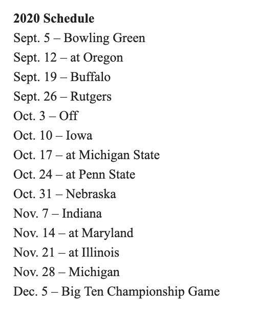 Ohio State Schedule 2020.Bill Landis On Twitter Future Ohio State Non Conference