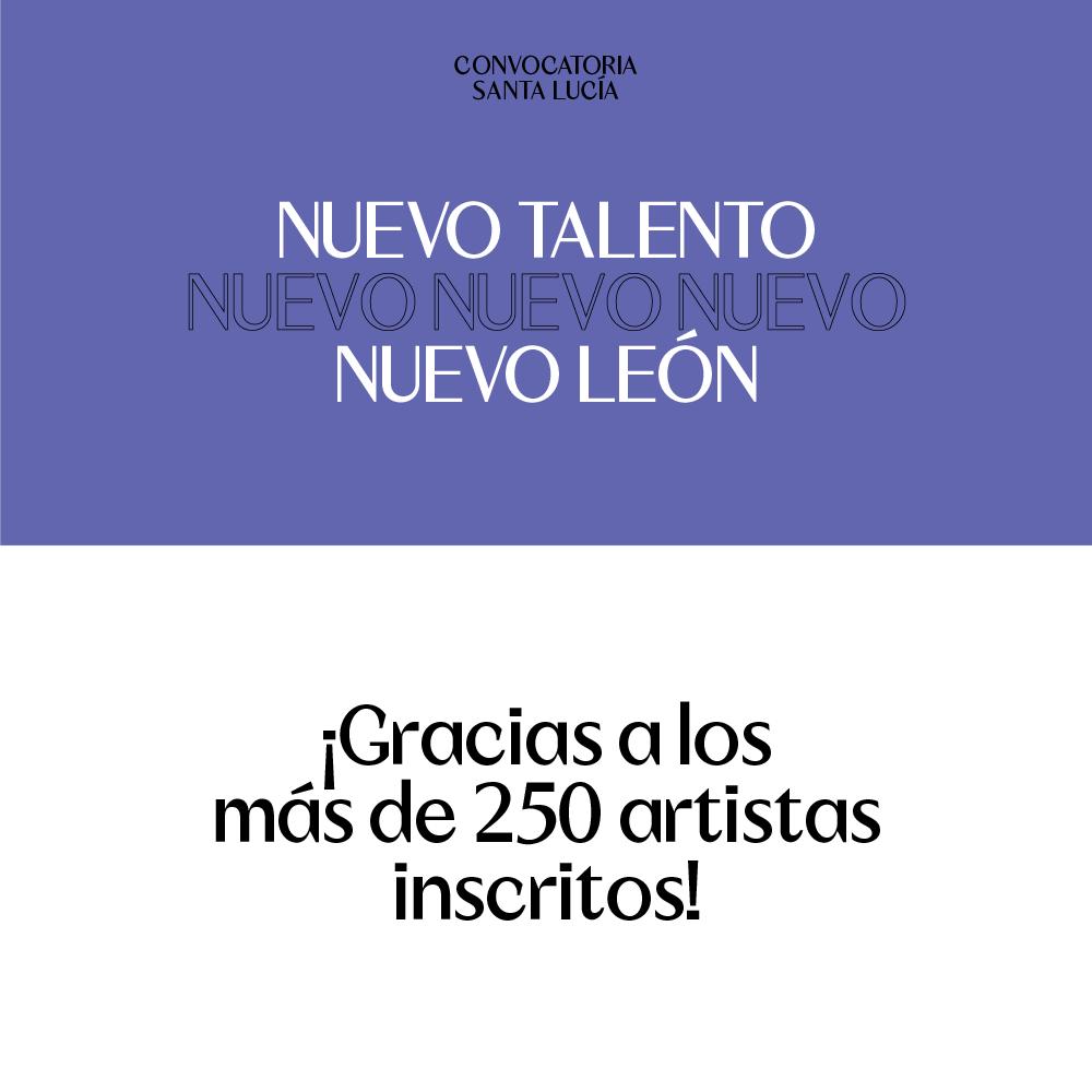 Agradecemos a los más de 250 artistas que formaron parte de la convocatoria Nuevo Talento 2019. La lista de finalistas será publicada el Viernes 23 de Agosto. #SantaLucíaNosCambia