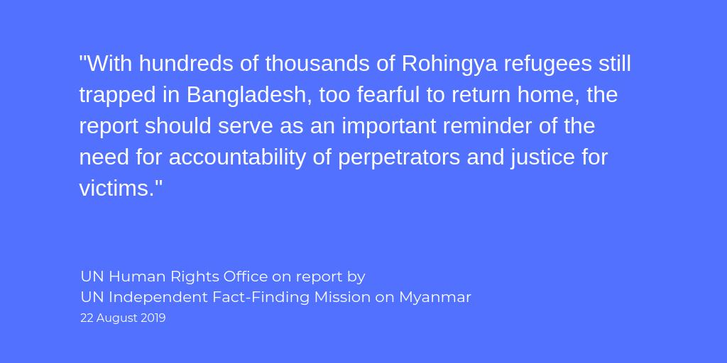 NEWS: UN independent fact-finding mission on Myanmar calls for justice for victims of sexual & gender-based violence used to terrorize & punish ethnic minorities. bit.ly/2My1GBE