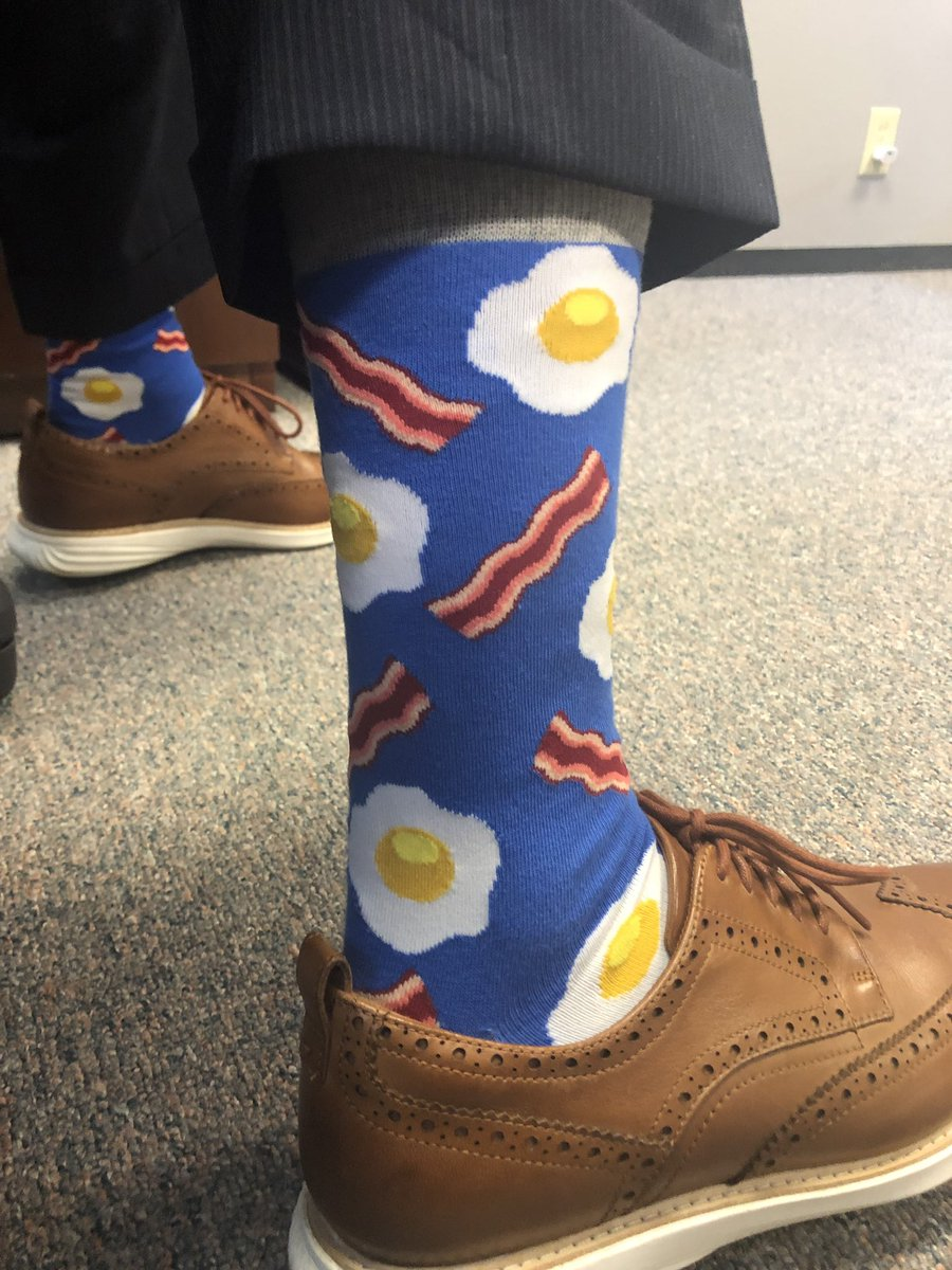 Bacon and eggs! #SockGame #LeadersMatter #DPLIS #MiddieRising<br>http://pic.twitter.com/IyWw40iHEd