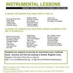 Image for the Tweet beginning: Elementary Instrumental In-School Lessons Program