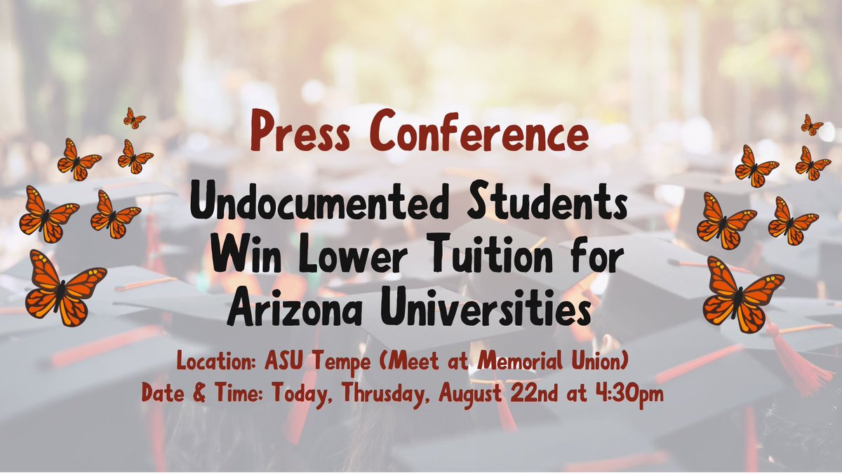 🔴 TODAY: Press Conference @ 4:30pm at ASU Tempe! More details: facebook.com/events/4845455…