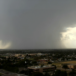 Image for the Tweet beginning: Heavy downpour west of Odessa