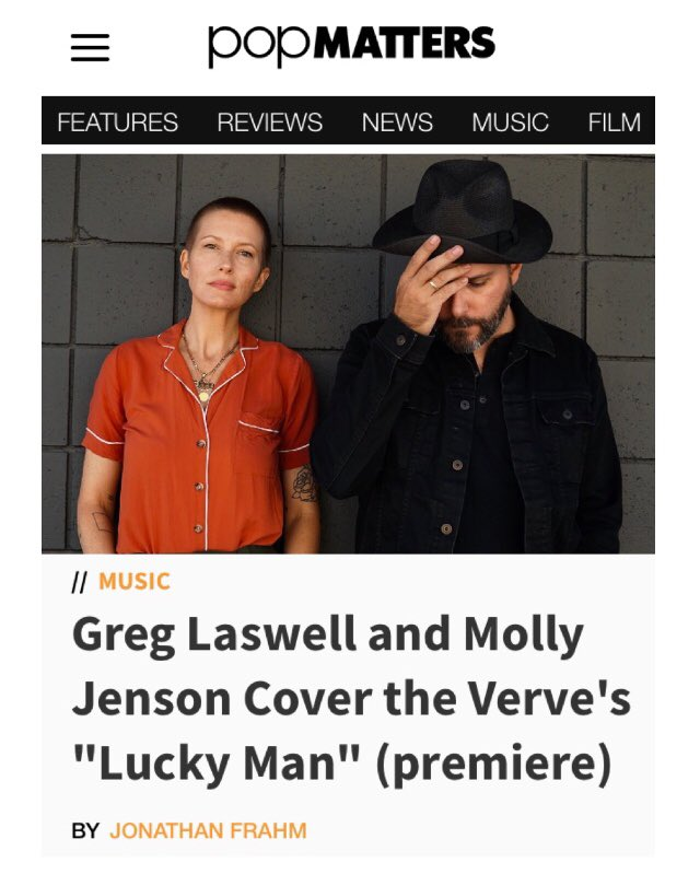 """Thank you to @PopMatters for premiering """"Lucky Man"""" (originally by The Verve) from my forthcoming record, Covers II, which will be released on September 13th.  https://www. popmatters.com/greg-laswell-m olly-jenson-luckyman-2639948391.html?rebelltitem=1#rebelltitem1  …  #NewMusicAlert <br>http://pic.twitter.com/dVK6huW4PA"""