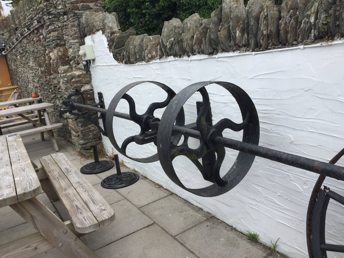 Ironwork, by W Tasker & Sons of Andover, from a local mill at Woolacombe, Devon––now sited in The Old Mill pub. Not sure of exact function. Any expert opinion? #ironworkthursday