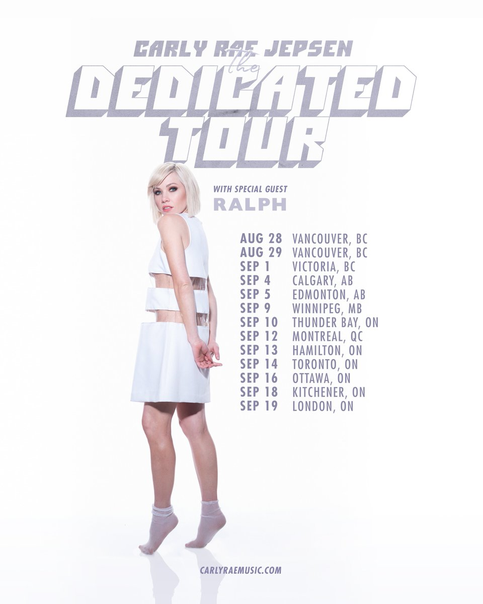 Can't wait to get back to the homeland and I'm bringing @songsbyralph with me!! 💖 Who am I seeing in Canada?https://www.carlyraemusic.com/tour