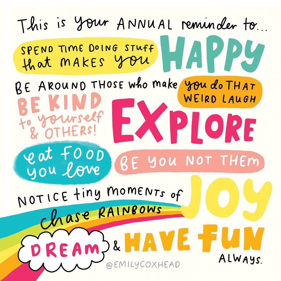 test Twitter Media - RT @actionhappiness: Remember to spend time doing stuff that makes you (and others) happy 🌈   Image: @emilycoxhead https://t.co/PQuYOsrTer