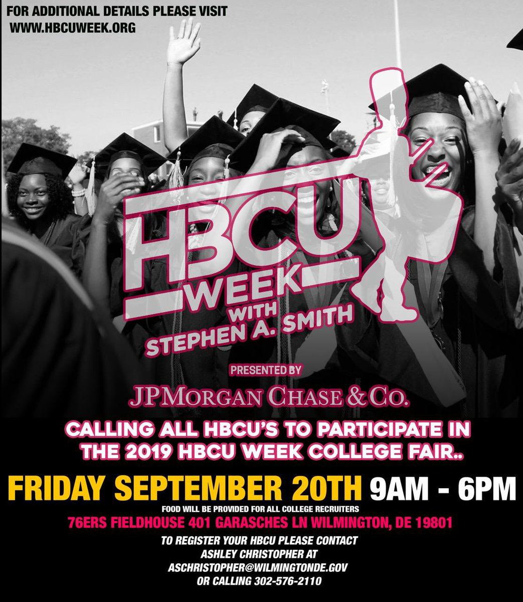 """Proud to be an HBCU graduate! Calling ALL HBCUs to participate in Career Fair at @hbcuweek. Students will participate in an, """"on the spot"""" acceptance process whereby, if they come with copies of requisite ACT/SAT score + transcript they could be admitted into college on the spot."""