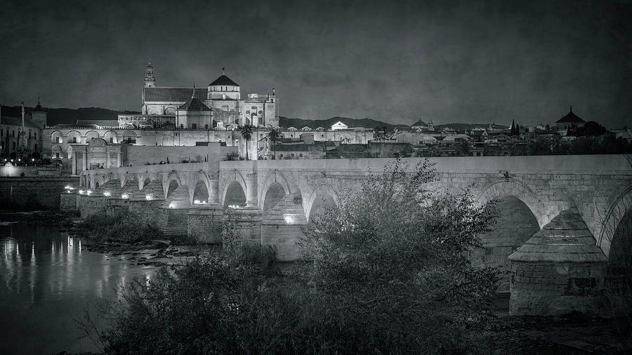 Puente Romano Cordoba Spain Night Bw https://buff.ly/2S4xufA #cordoba #spain #bridge #blackandwhite #blackandwhitephotos #roman #puenteromano #mezquita @joancarroll
