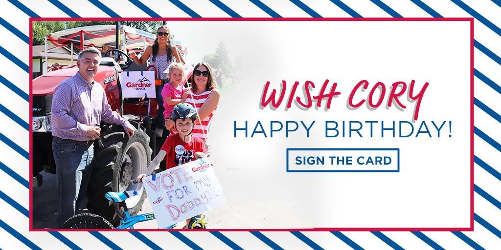 Alyson, Thatcher, Caitlyn and I are hoping you will join us in wishing Cory a Happy Birthday! Sign his birthday card here: act.coryforco.com/happy-birthday… -Jaime