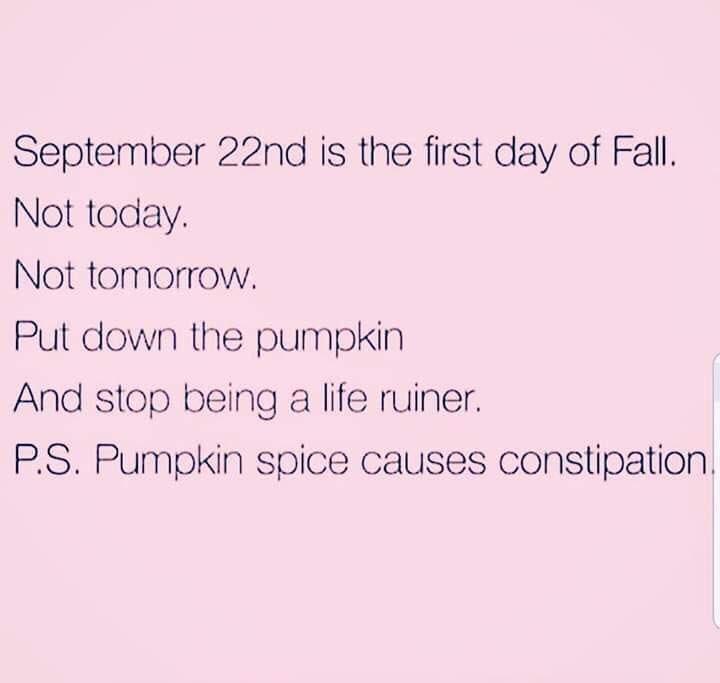 Pumpkin Beer Can Wait!