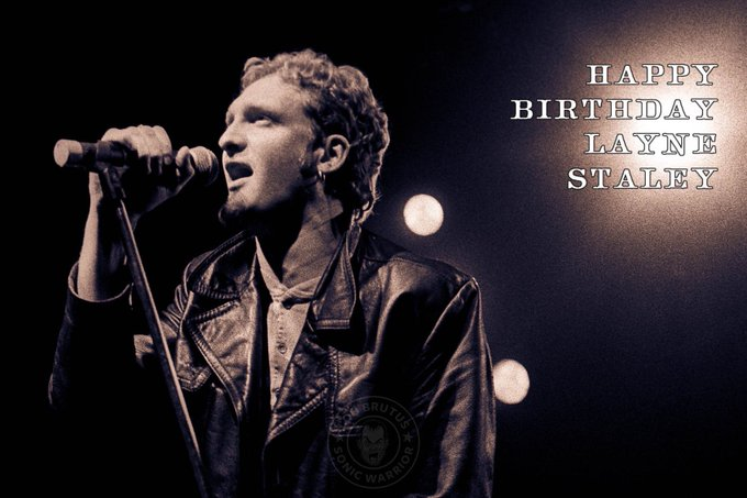 Happy bday to 90s rocker Layne Staley..And the bizarre 90s channel that WONT play his music..
