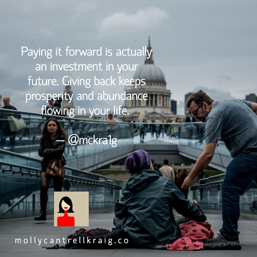 Extending a true kindness is ALWAYS expansive. It always generates possibility and opportunity. The ROI of your generosity will return to you in ways you may not recognize immediately. #ThursdayThoughts #ThursdayMotivation #leadership #BeKind #PayItForward