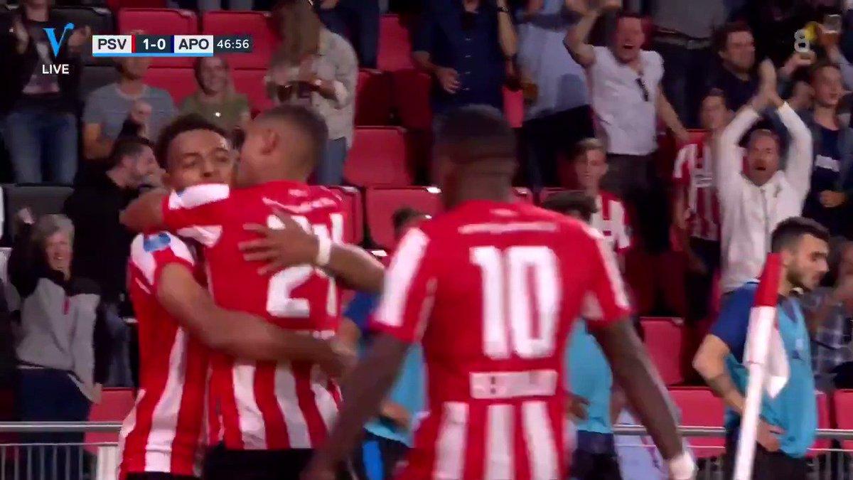 PSV  - Apollon Limassol 1-0 door Mo Ihattaren