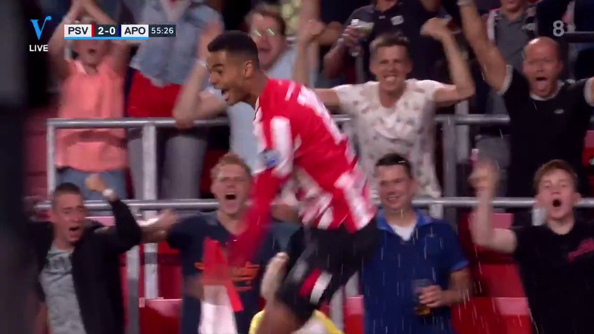PSV - Apollon Limassol 2-0 door Cody Gakpo