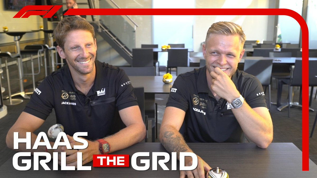 🔥 GRILL THE GRID 🔥  They're fiery on track but the @HaasF1Teamduo are as competitive off it 🤣  Full episode >> http://f1.com/GTG-Haas  #F1