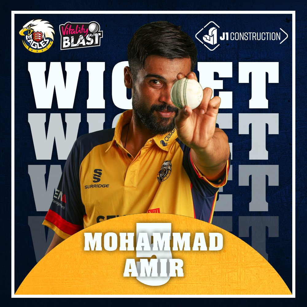 WICKET: @iamamirofficial has a third!Jordan is caught by @ravibopara on the boundary and departs for 19. The Sharks are 148-8 after 18.1 overs.#SoarWithUs 🦅