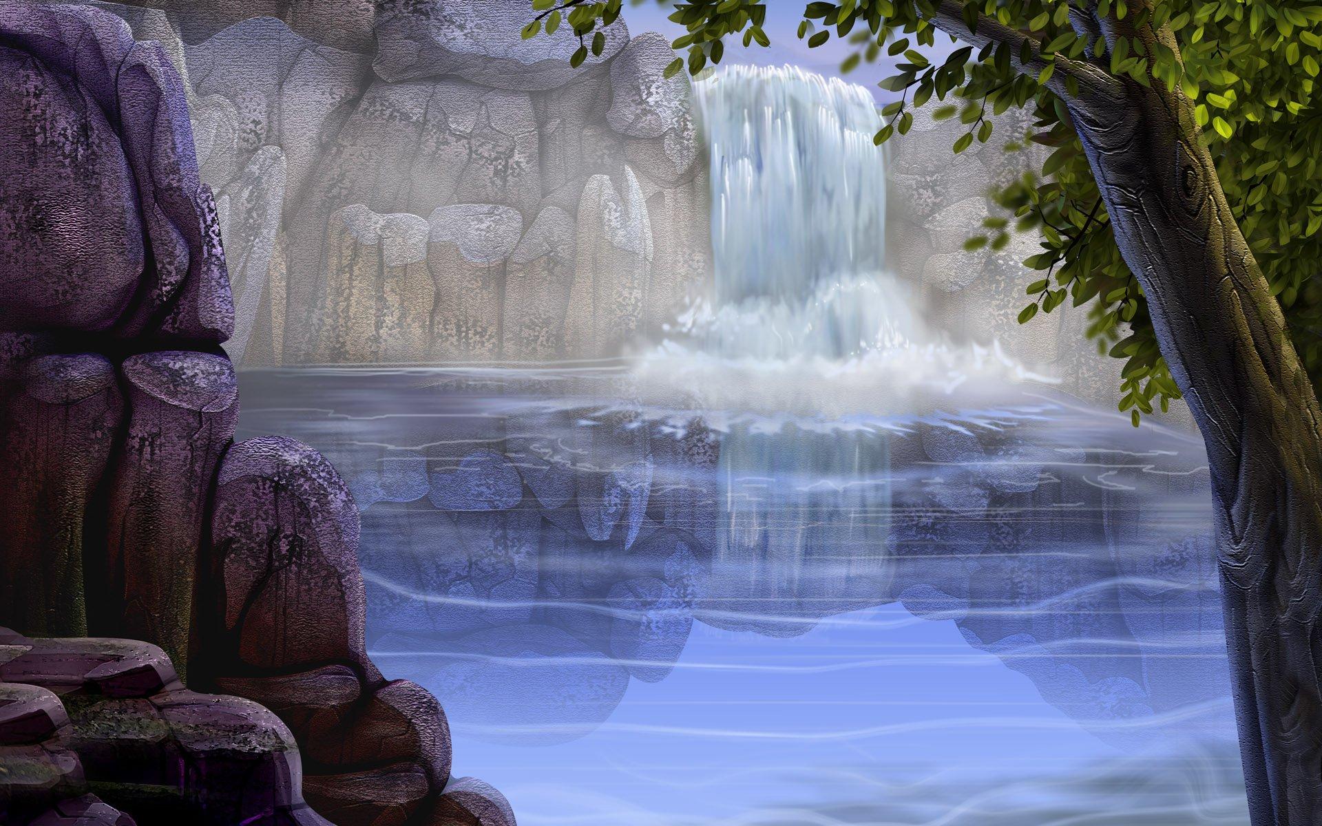 картинки для презентации на задний фон водопады ставлю