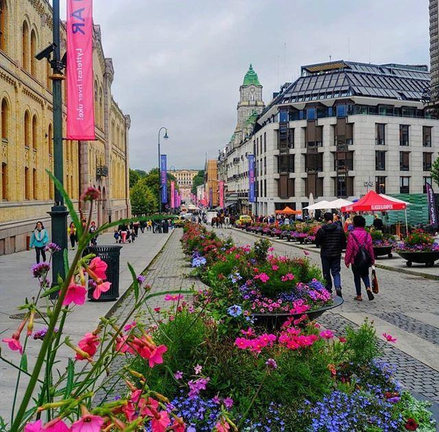 Colours on Karl Johan street 😊 #oslo #visitoslo Photo: @norvegefr ift.tt/2Zm5JH5