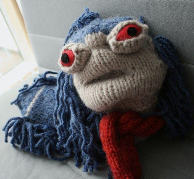 Large cow - waldorf doll - amigurumi handmade with woolen knitting ...   592x640