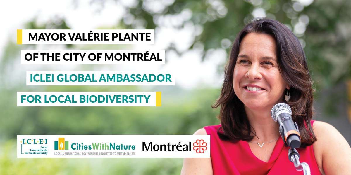 RT @UNBiodiversity Congratulations to #Montreal Mayor @Val_Plante on her appointment as @ICLEI Global Ambassador for Local #Biodiversity.  Leader of our host city, Mayor Plante is calling on #mayors everywhere to join the global movement for #nature.  @MTL_Ville  ➡️ https://t.co/OvYRvg0gix