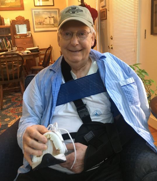 Wave3news On Twitter What First Zion Now Me Turns Out Mitch Mcconnell Wasn T Joking His Injury Was Caused By A Blown Out Nike Read The Story Here Https T Co Knxdohe2v8 Https T Co Hzwtupe9sk
