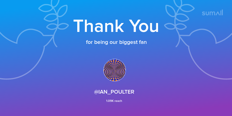 Our biggest fans this week: IAN_POULTER. Thank you! via https://t.co/8hkl2q36qi https://t.co/TF1ZqTe1cw
