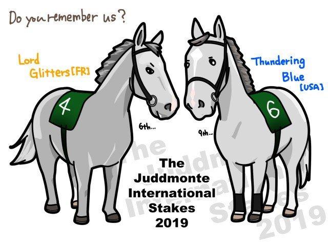 【2019年8月24・25日の芦毛さん】英G1インターナショナルSに出走していたのは昨年JCで来日した芦毛さんと今年のドバイターフで日本女子に囲まれてた芦毛さんでした。 https://t.co/ODnRwYU0Ik