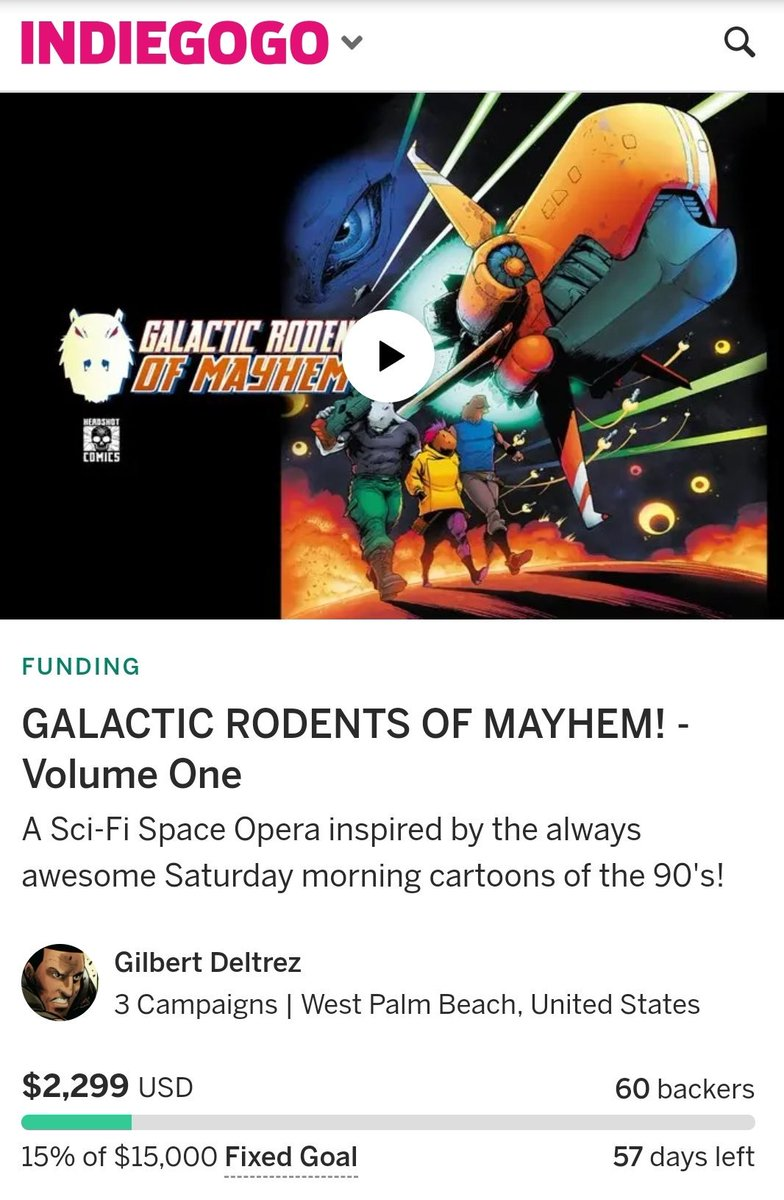 In 3 days our book GALACTIC  RODENTS of MAYHEM is already at 15% with 60 backers!!!   This project is definitely worth some eyeballs   Can we please get a RT for Armed Capybaras?  #indiecomics #comicbooks #graphicnovels #FunComics #graphicnovels #makecomics #ComicsRevolution<br>http://pic.twitter.com/kgT9IddFZY