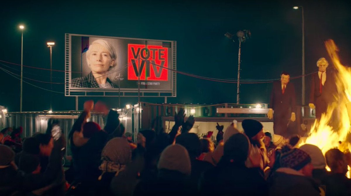 Stop what you're doing and watch the dystopian #YearsAndYears on @HBO @BBC. It's a brilliant cautionary glimpse at how the next several years could (will?) go down, told from a very human POV. Terrifyingly relevant near-future storytelling beyond even BLACK MIRROR. <br>http://pic.twitter.com/aV5jsQaGbz