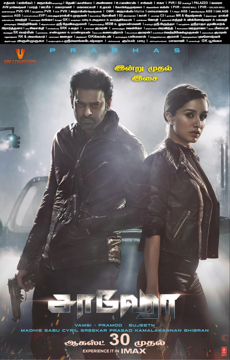 #Saaho Music From Today. August 30th Grand Release  #SaahoAudioLaunch #SaahoAudio #SaahoIn7Days  #Prabhas @ShraddhaKapoor @UV_Creations @CtcMediaboy<br>http://pic.twitter.com/qAtrnL34tV
