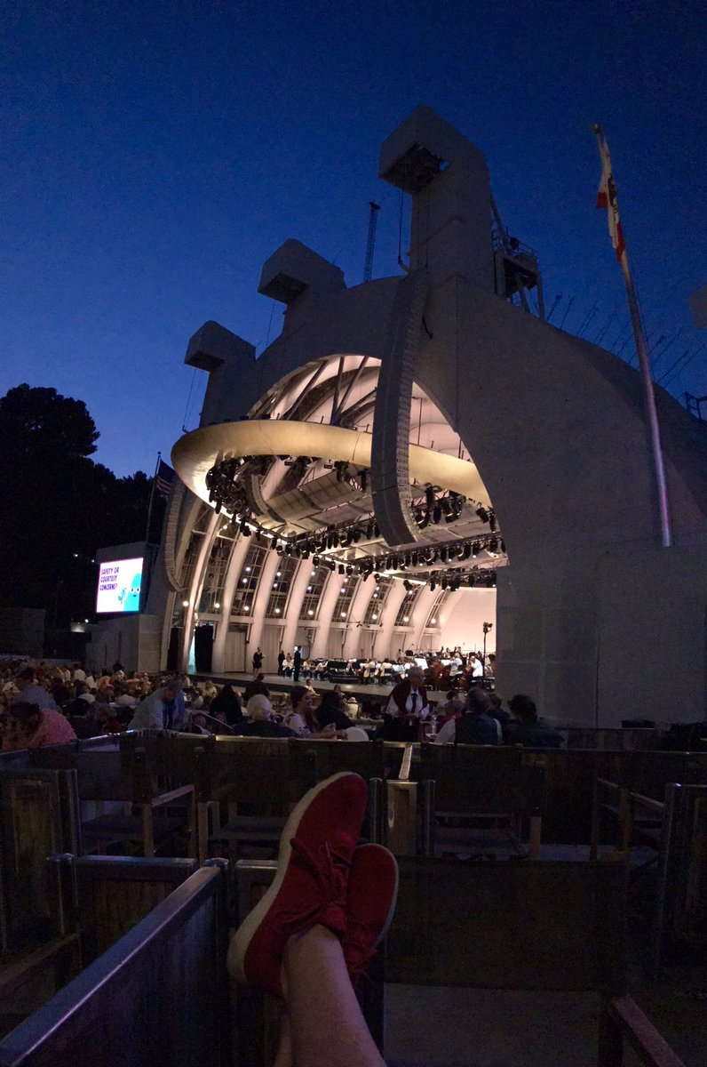 Excited to end a short, albeit difficult work week hearing my favorite piece of music -- Aaron Coplands Appalachian Spring -- as played by the magnificent @LAPhil, under the direction of exceptional conductor @jamesgaffigan, tonight at the @HollywoodBowl. #HollywoodBowl