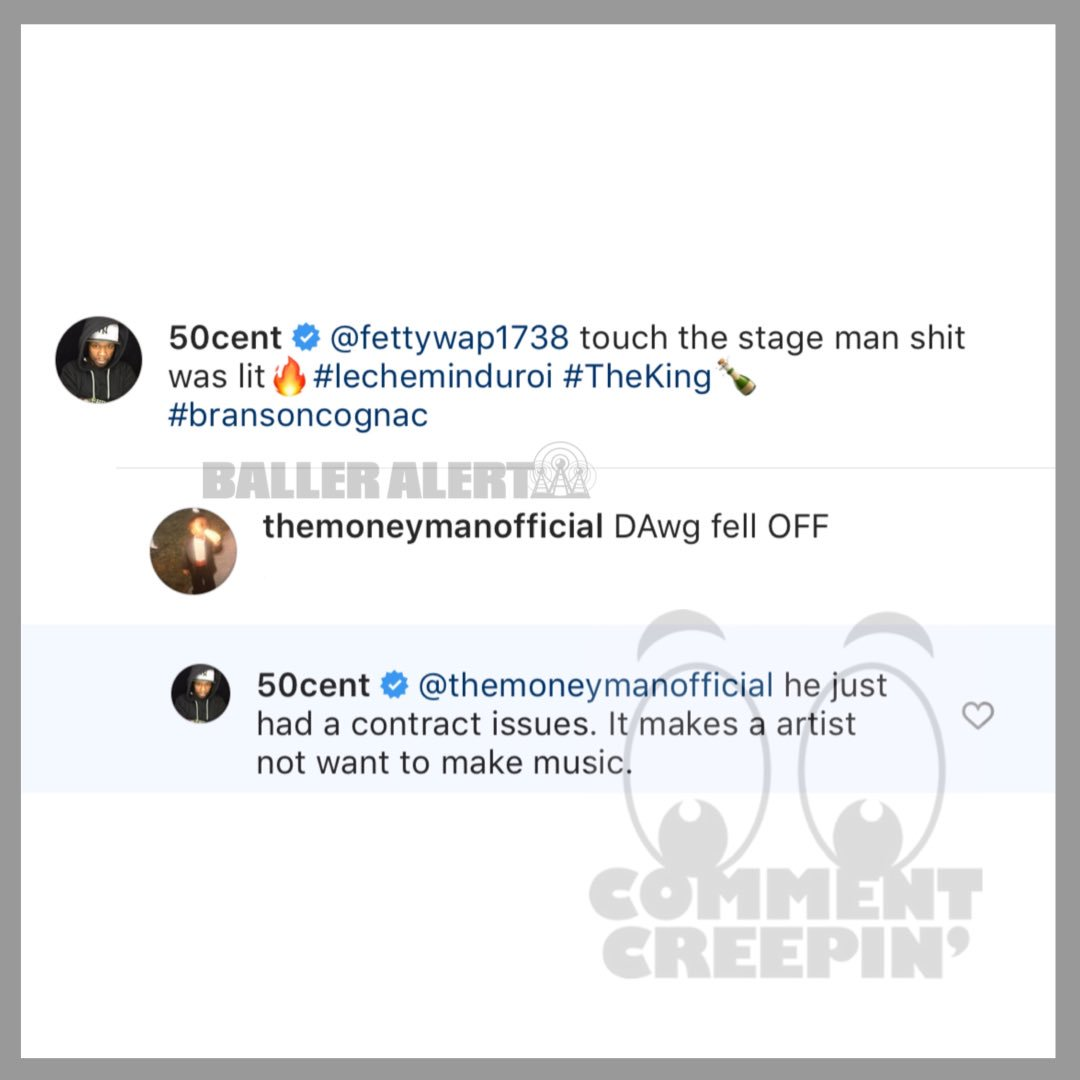 Ballerific Comment Creepin 🌾👀🌾 #50cent #fettywap #commentcreepin https://t.co/i8wxAvmnFl