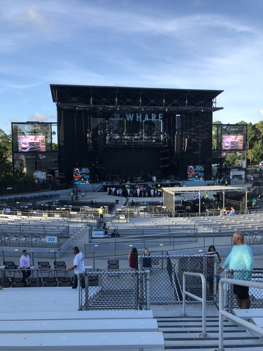 Can't wait to see @BradPaisley in a couple hours  #TheWharf @RileyGreenMusic<br>http://pic.twitter.com/NTSaN3s8Xy – à The Wharf Amphitheater