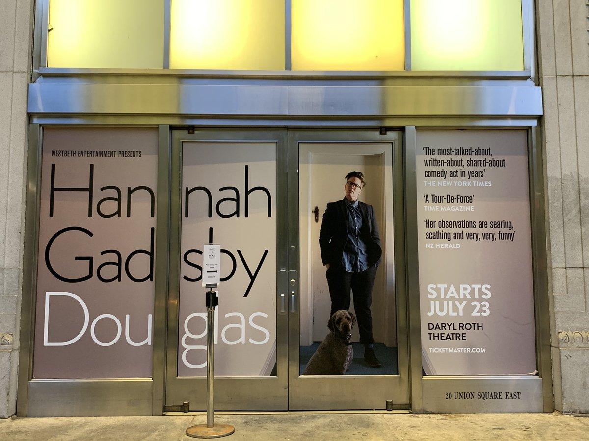"Tonight's show: ""Douglas,"" by @Hannahgadsby"