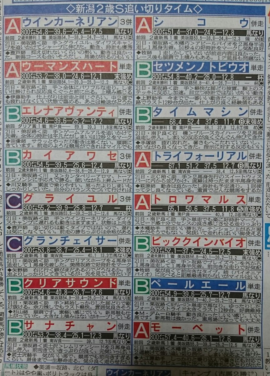 #新潟2歳ステークス  本命馬はモーベット号😃 大好きだったオルフェーヴルの代表産駒になってほしい👊😆🎵 ※記事は日刊スポーツさんの関西版です。