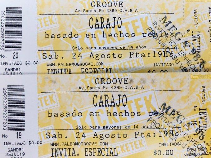 Mega 98 3 On Twitter Hoy En Lanochedelrock Te Regalamos Entradas Para Ver A Carajo El Sábado 24 De Agosto En Groove