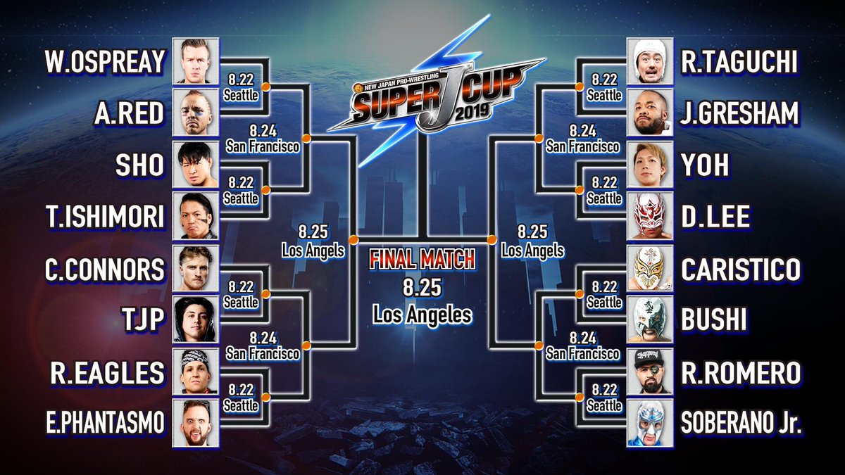 Excited for the Super J Cup and as #NJPW does actual #ProWrestling. Not your shitty 3-9 minute matches that WWE be putting for #KingOfTheRing. That said, my pick for the final: El Phantasmo vs Dragon Lee with Phantasmo winning the whole thing. #BulletClub #SJCup @elpwrestling <br>http://pic.twitter.com/zb4ZvB0D3s
