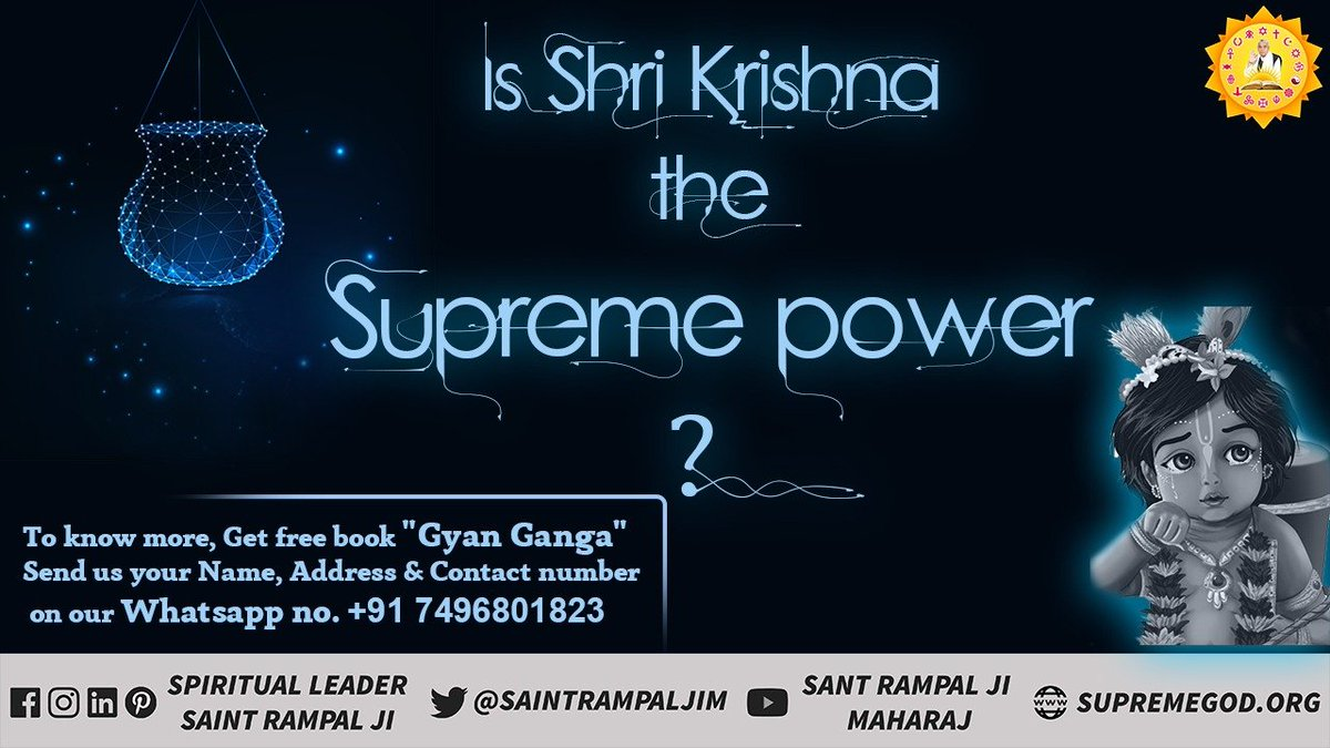 The speaker of Shrimad Bhagavad Gita ji (Adhyay 18 Shlok 62 and Adhyay 15 Shlok 4) is himself telling Arjun to go in the refuge of some other God. - @SaintRampalJiM #Janmashtami #जन्माष्टमी<br>http://pic.twitter.com/pZ0JYYpIAV