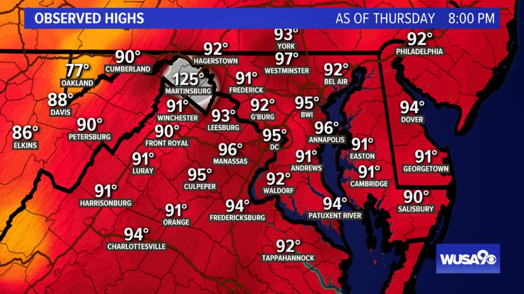 Hey DC! Here's a look at today's highs. Tune in to WUSA at 11 for the forecast or check at  http:// wusa9.com/weather     #WUSA9Weather #WEATHER #DCWX #MDWX #VAWX<br>http://pic.twitter.com/cmW5MG43ik