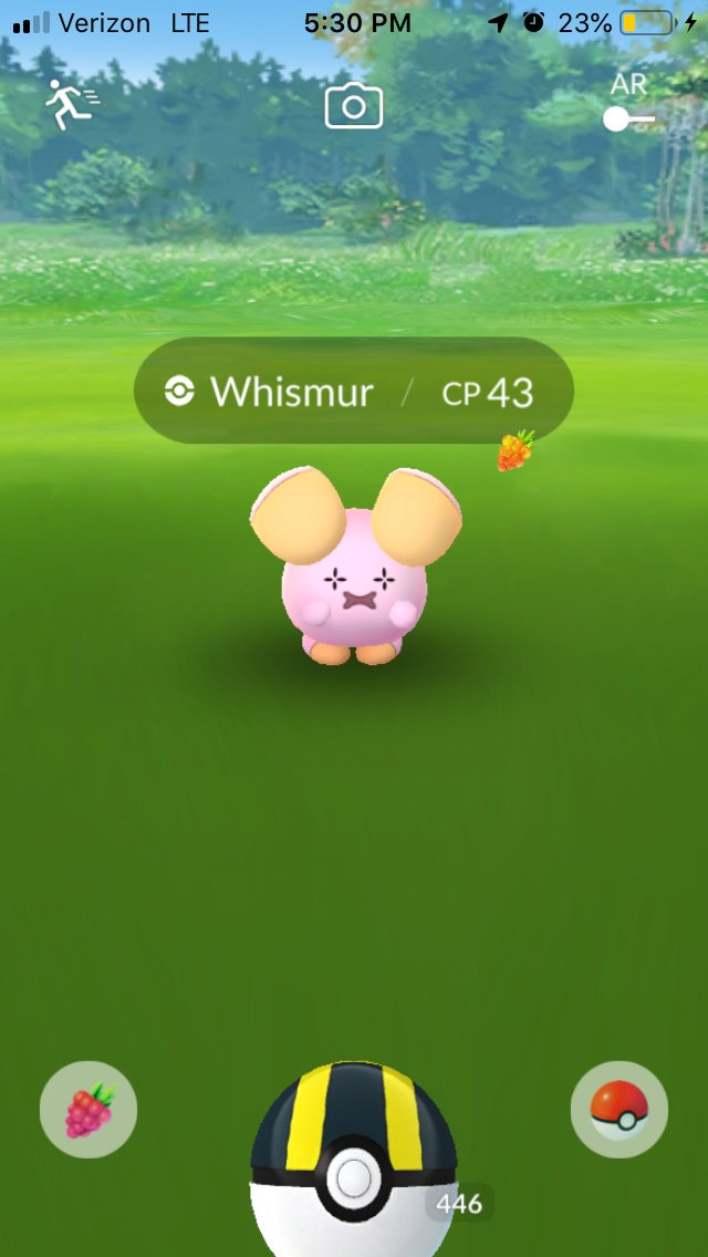 Not taking any chances. #pokemongo #Whismur @KaitoNolan<br>http://pic.twitter.com/aJmm0C36cL