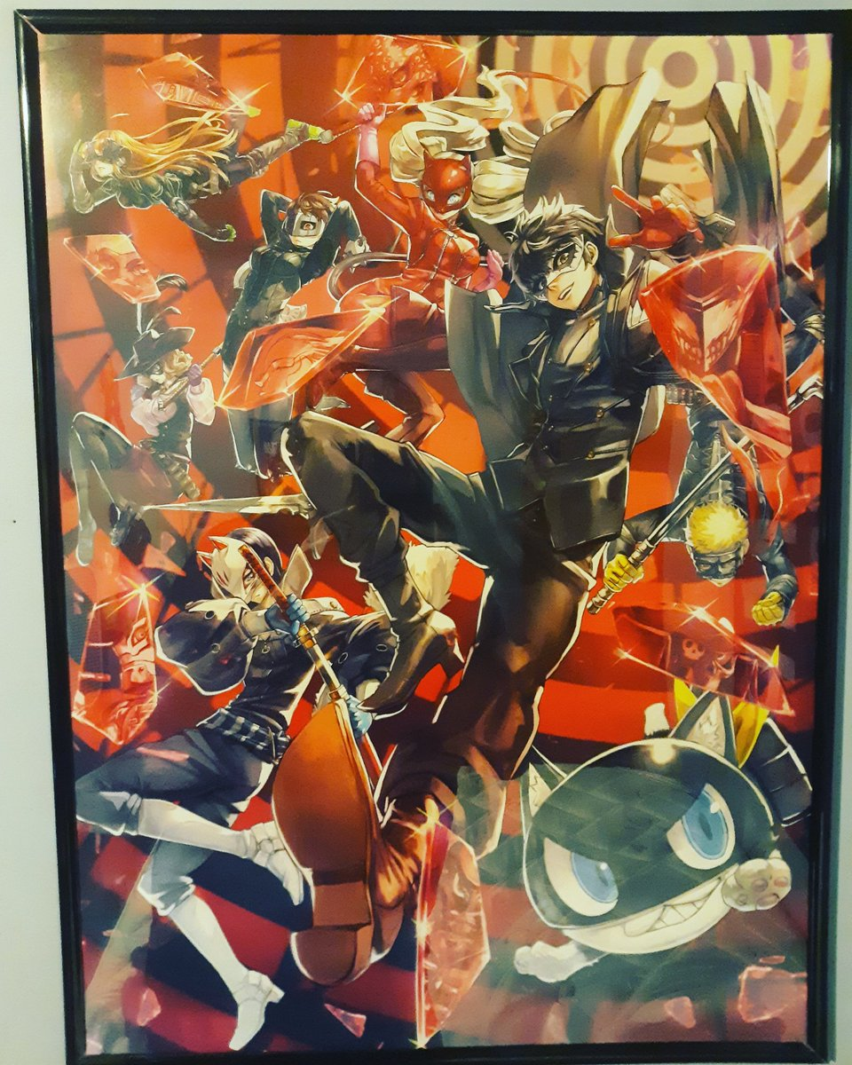Got my new Persona 5 poster setup and framed. Thanks @EightySixed<br>http://pic.twitter.com/gSjH1i617E