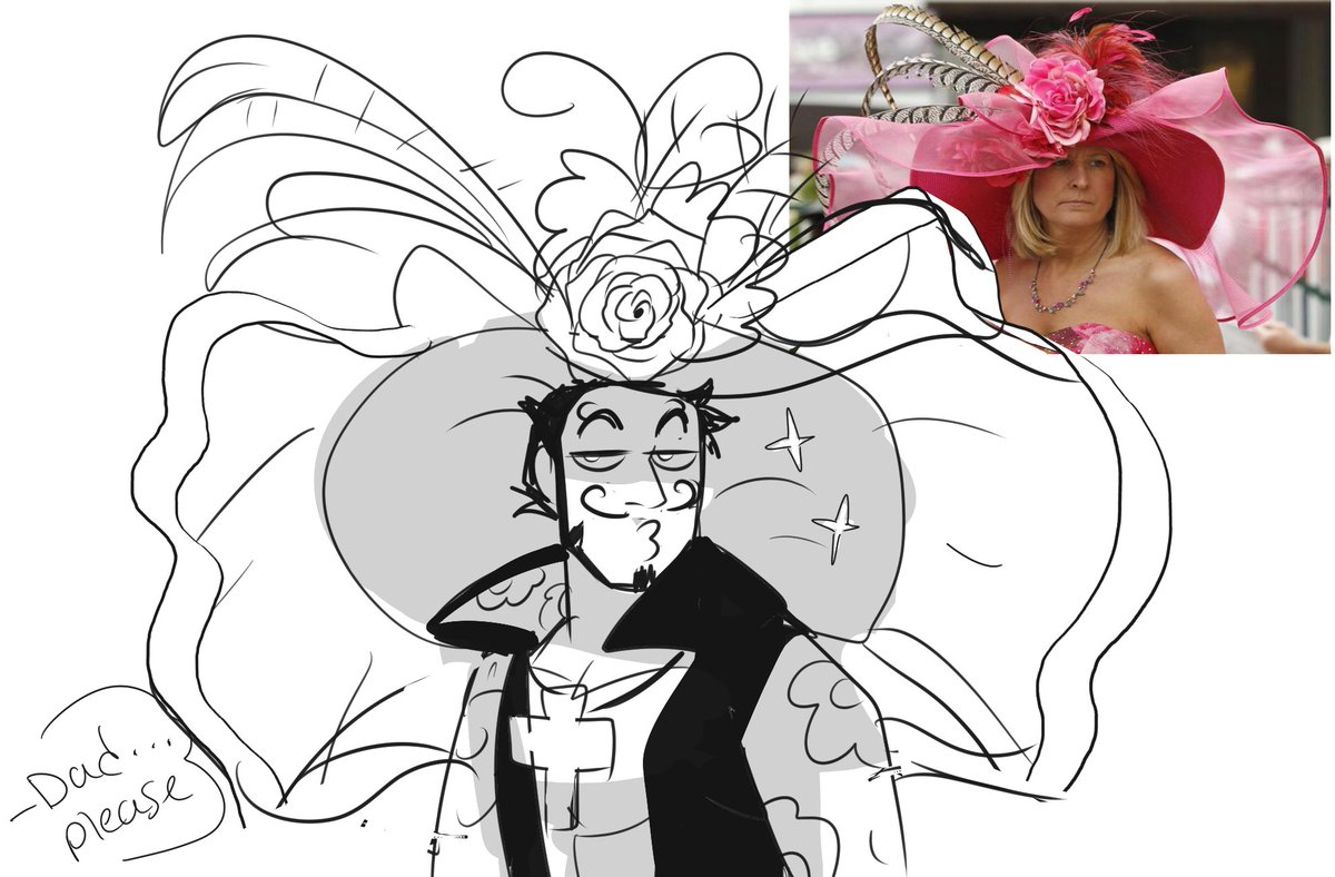 So my grandma loves the derby and today I thought of a awesome au where everything's the same but mihawk wears a derby hat <br>http://pic.twitter.com/5o4yevrfEd