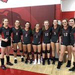 Image for the Tweet beginning: Lady Whippets sweep Clearfork vb