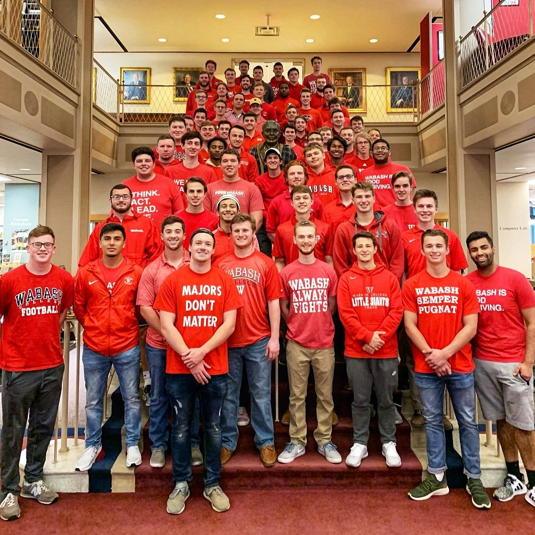 First day of classes @WabashCollege , and first CIBE Staff meeting of the year. If you had told me seven years ago that we would have 110 students in the CIBE, I would have laughed at you. But it is true. #innovation #consulting #community<br>http://pic.twitter.com/zTeciGYyoG